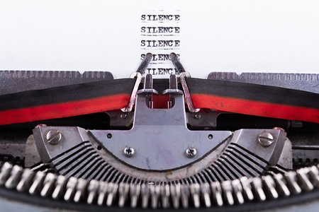 free your mind:  Silence written on an old typewriter