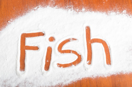 Fish sign, Flour Artwor photo