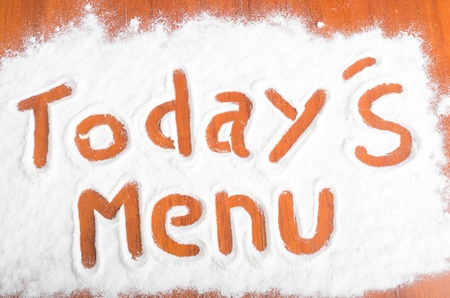 Todays menu sign, Flour Artwor photo