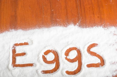 Eggs sign, Flour Artwor photo