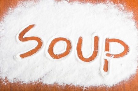 soup sign, Flour Artwor photo