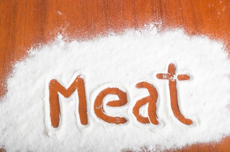 Meat sign, Flour Artwor photo