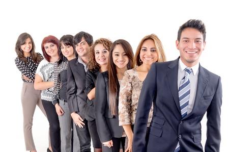 Group of hispanic business people