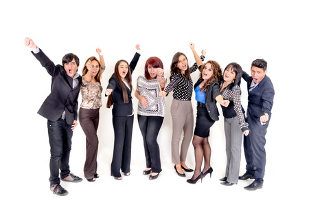 Large group of happy business people  Success  photo