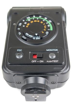 reflex: Un vecchio flash esterno per una singola macchina fotografica reflex