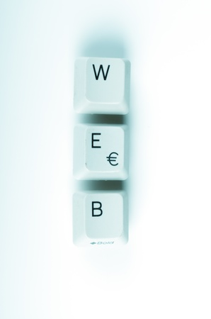 web word written with computer buttons photo