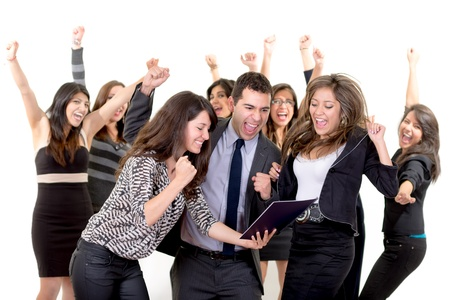 Large group of happy business people  Success  Stock Photo