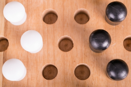mental object: chinese wooden board game Stock Photo