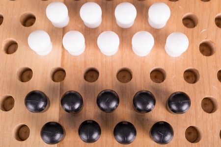 mental object: chinese checkers wooden board game Stock Photo