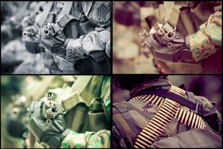 extermination: Army guns and rifles set