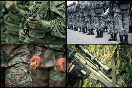 traumatic: Army Set Stock Photo