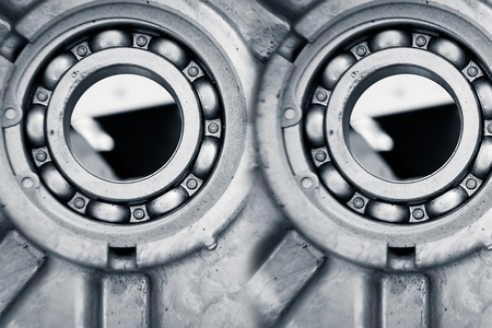 ball bearings, pinion-gears set blue toning idea photo