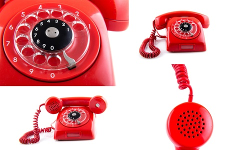 old telephone  Collage photo