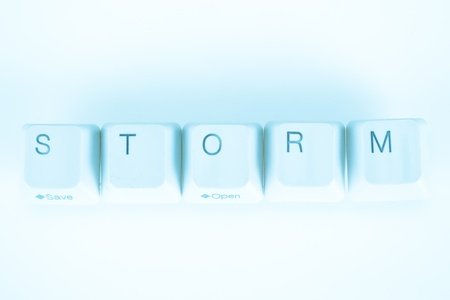 undetermined: Storm word written with computer buttons