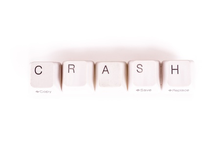 undetermined: Crash word written with computer buttons
