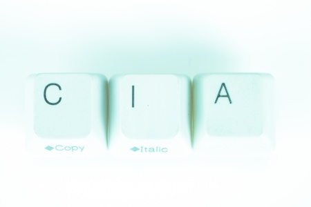undetermined: Cia word written with computer buttons