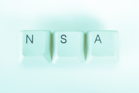 undetermined: Nsa word written with computer buttons