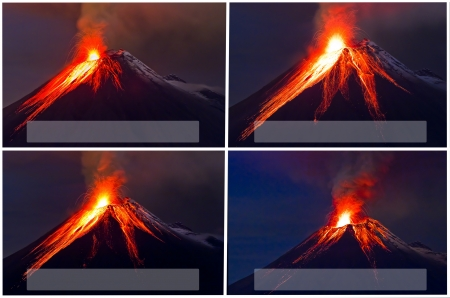 tungurahua: Tungurahua Volcano eruption collage
