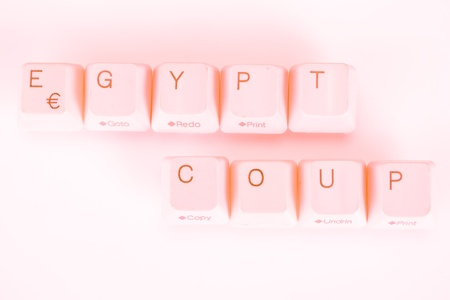 undetermined: Egypt Coupword written with computer buttons Stock Photo