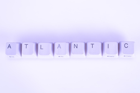 undetermined: Atlantic word written with computer buttons