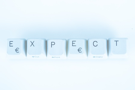 undetermined: Expect word written with computer buttons