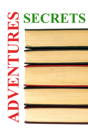 classics: Old books with adventure and secrets sign Stock Photo