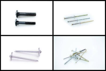 shoppe: metal rivets Stock Photo