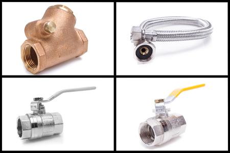 outils plomberie: Des outils et des mat�riaux de plomberie Banque d'images