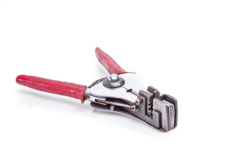 automatic Wire stripper isolated on white background photo
