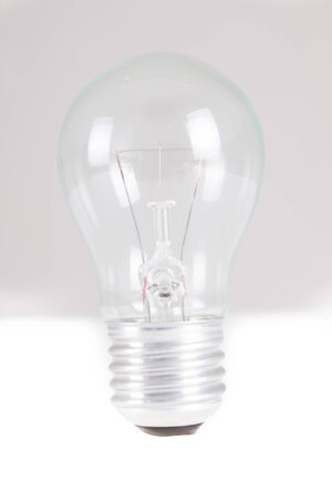 filament: Clear light bulb with filament showing