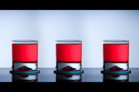 three cocktail glasses concept photo