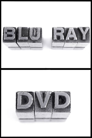 blu ray: blu ray and dvd sign in block letters