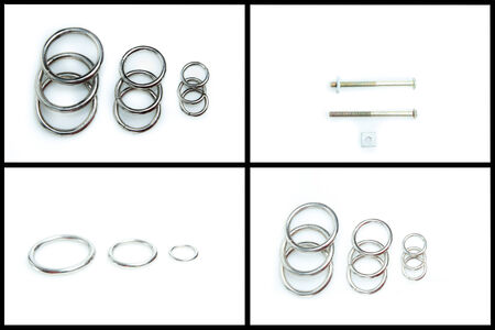metal rings on a white background set photo
