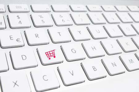 online shopping concepts with cart symbol photo