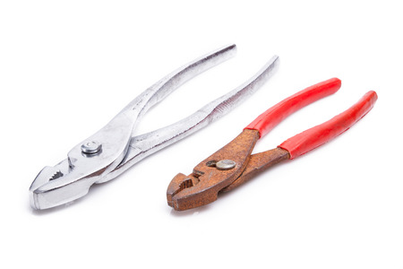 Pliers. The manual tool. Isolated on white background photo