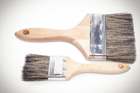 Paint brushes isolated on a white background photo