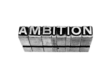 avidity: a conceptual macro sign representing ambition sign