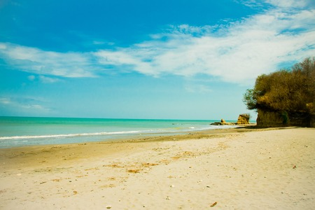 co: beautiful beach in a tropical paradise on a sunny day Stock Photo