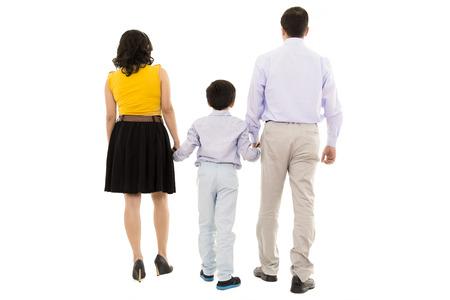 walking away: family walking away in studio