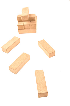 jenga on a white background Stock Photo