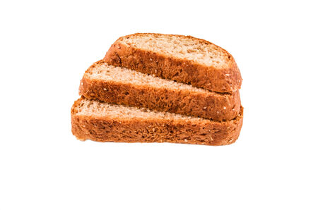bread isolated on a white background photo