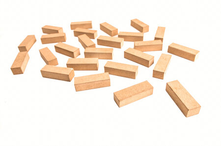 toy blocks on a white background photo