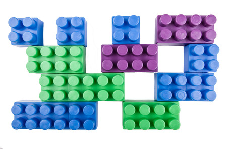 building blocks on a white background photo