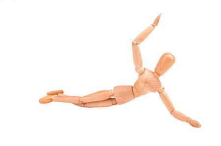 proportions of man: wood model figure