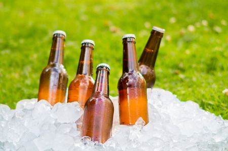 beer ice outside photo