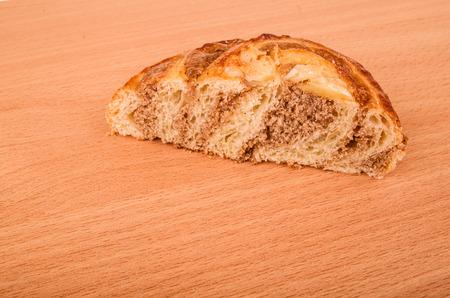 fillo: pastry sweet cinnamon on wood Stock Photo