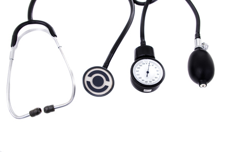 Medical equipment (stethoscope and sphygmomanometer) photo