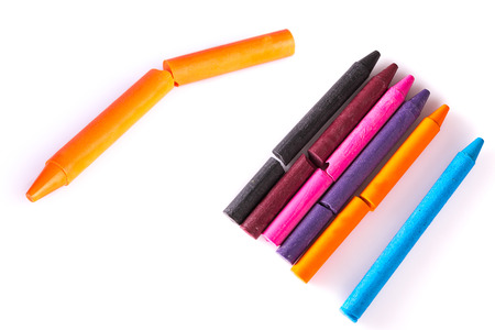 ballpen: crayola  on a white background