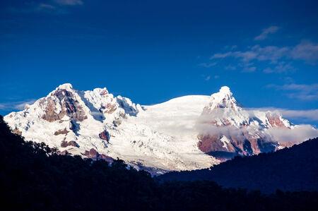 snowcapped: Antisana Volcano, Ecuador, with a cloud