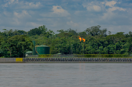 Oilfields in the Amazon, Yasuni area, Ecuador photo